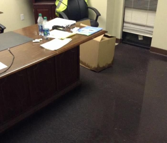 Office Water Damage Tuscumbia Before