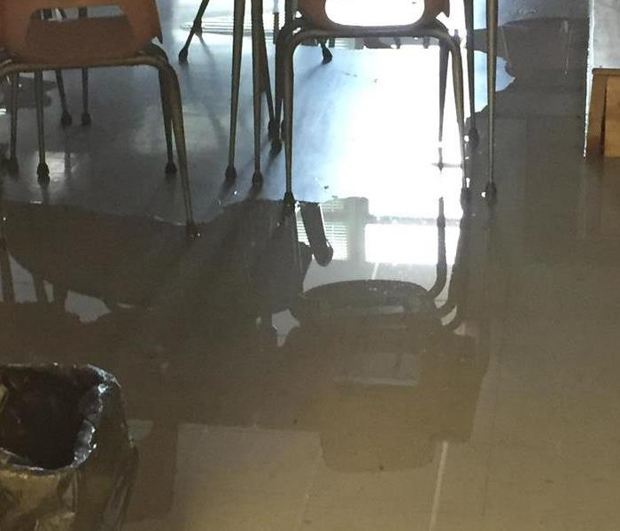 Classroom Water Damage