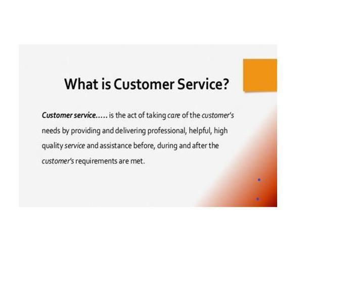 Definition wording of customer service,
