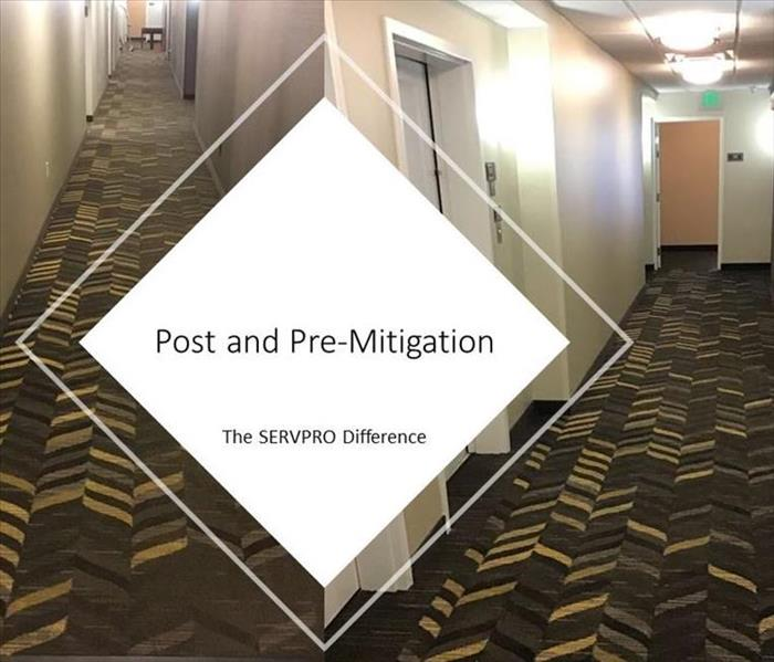 Pre and Post Mitigation of commercial carpet