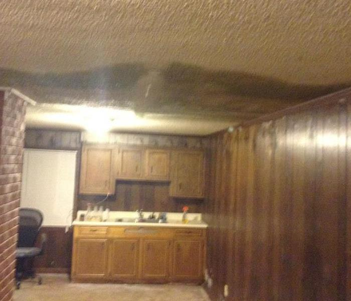 Mold Remediation Water And Mold Damage From a Roof Leak